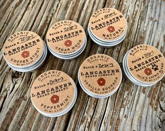 Organic Beard Balm 0.5 ounce Sampler Packs