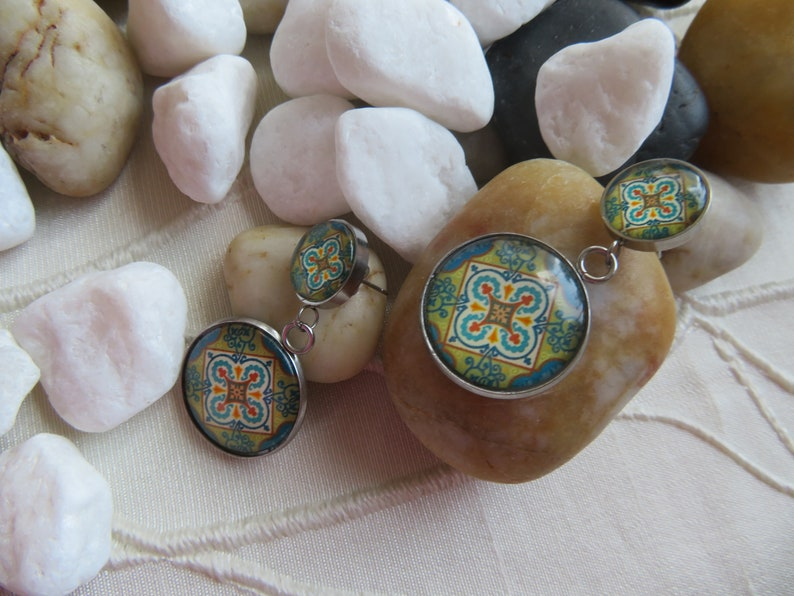 Earrings mandala 4
