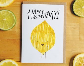 Birthday Lemon Greeting Card