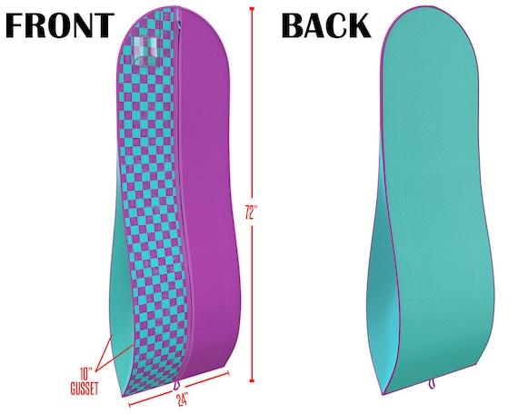 """Femmes bleue et violette robe et robe vêtement sac - 72 """"x 24» - 10» conique gousset - par vos sacs"""