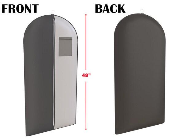 """Noir et gris sac de vêtement costume smoking pour les hommes et les femmes - fenêtre pratique - bagages et transporteur – 48 """"x 24"""" - par vos sacs"""
