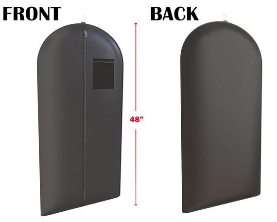 """Sac de vêtement costume smoking noir pour les hommes et les femmes - fenêtre pratique - bagages, stockage et support-48 """"x 24"""" - par vos sacs"""