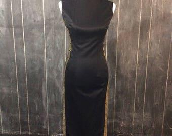 Vintage Alfred Shaheen black maxi dress