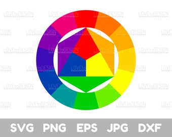 photograph relating to Color Wheel Printable known as Coloration wheel printable Etsy