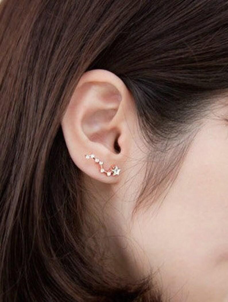Little Dipper earrings star constellation earings