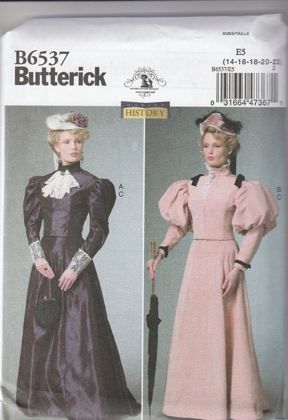 Edwardian Sewing Patterns- Dresses, Skirts, Blouses, Costumes Butterick pattern 5265- sizes 14-22 $4.99 AT vintagedancer.com