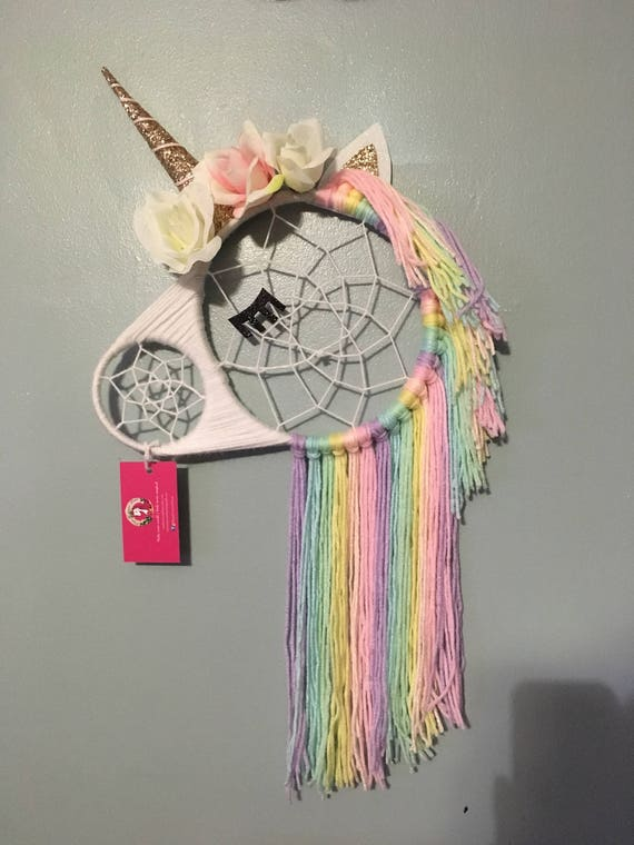 Unicorn Dreamcatcher Dream Catcher Wall Hanging Nursery Etsy