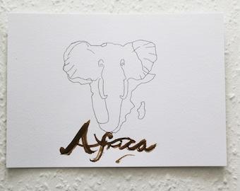 AFRICA Original drawing