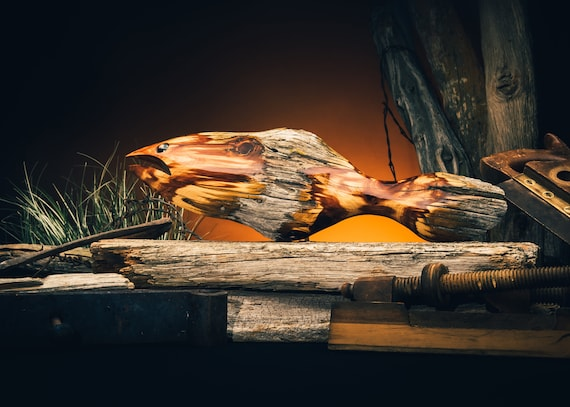Men/'s gift. Gift for Him Gift for hunters Cedar Fence Post Duck\u2014Medium Rustic Decoy Father/'s Day Gift