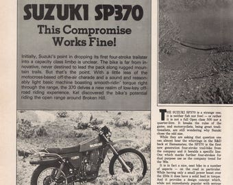 Suzuki SP370 1979 Vintage Road test Article Removed from Australian magazine.