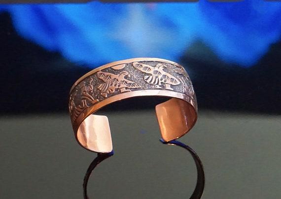 Elaine Becenti Navajo copper cuff bracelet / Chunk