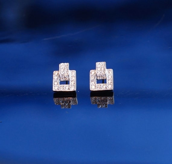 Dior earrings silver and Swarovski crystals / Vint
