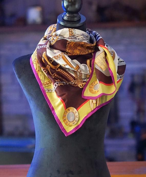 Henri Bendel 100% silk scarf / Oversized square sc