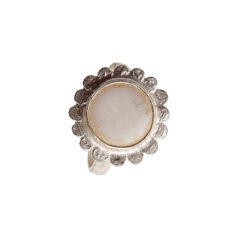 Wedding Ring Jewelry Christmas Gift For Her Vintage Pearl Silver Ring Beautiful Dainty Ring Cocktail Ring Jewelry Silver Ring Jewelry