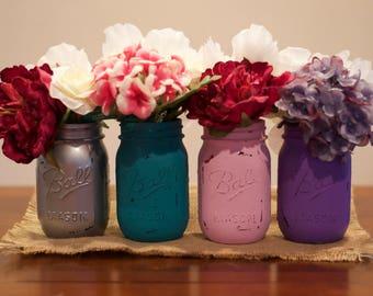 Hand-Painted Mason Jar Sets