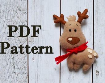 Gingerbread Man Felt Pattern Christmas Pattern Felt Etsy