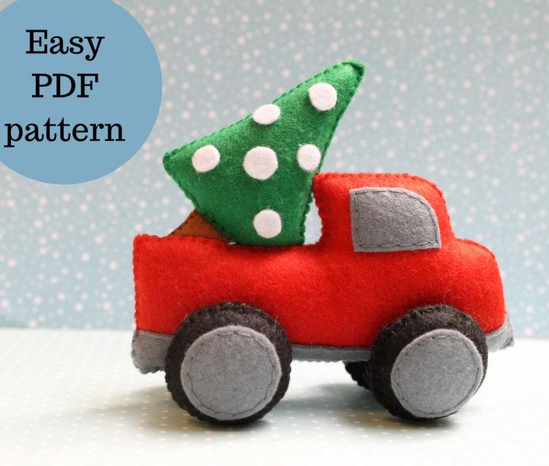 Felt Christmas Decor ornament pattern PDF photo tutorial Felt plushie toy tutorial Easy softie sewing pattern DIY soft toy pattern