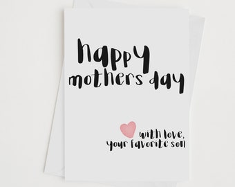 mothers day card from son - happy mothers day, mothers day gift, gift for mom, unique, INSTANT DOWNLOAD