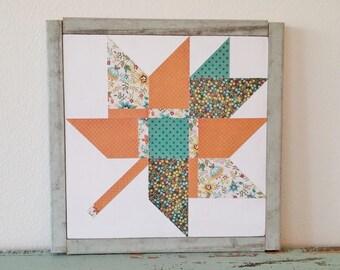 """Autumn Maple Leaf Quilt Block Sign-12"""""""