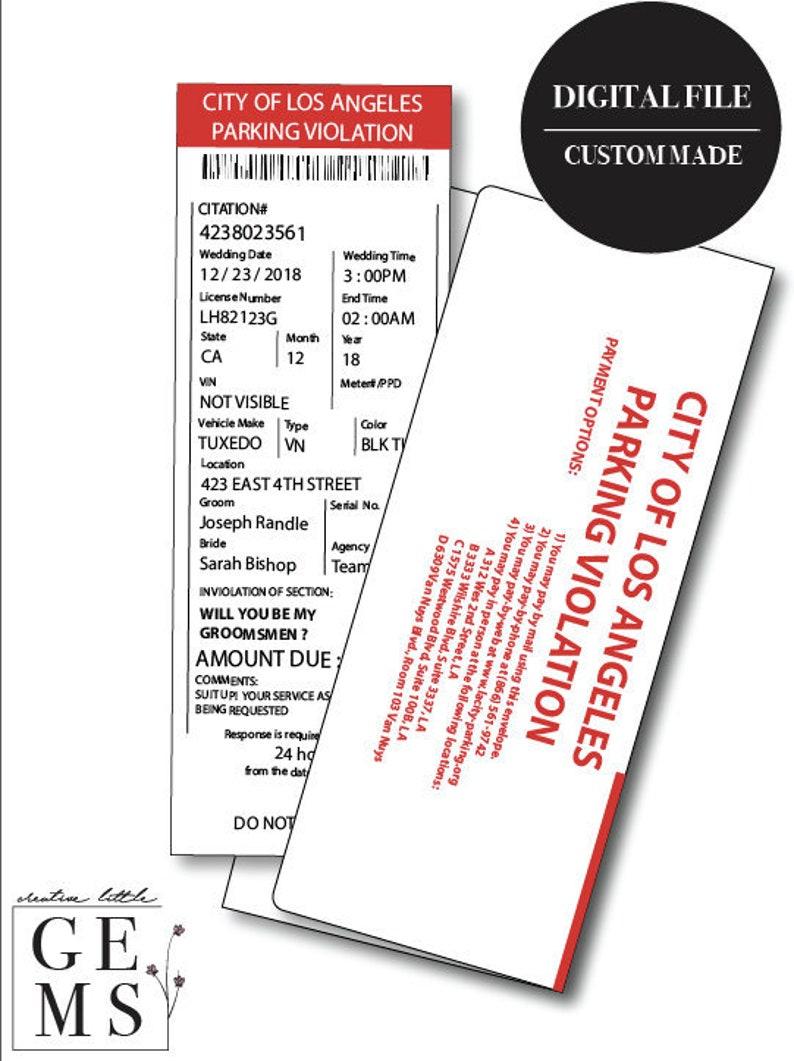 City Of Los Angeles Parking Violation >> Groomsman Parking Ticket Prank