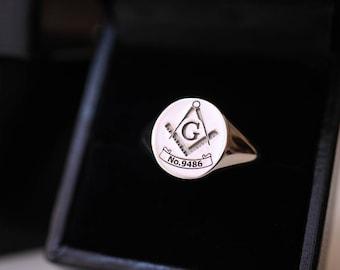 Freemason ring   Etsy