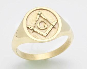 e83cd4c4346c1 Masonic ring   Etsy