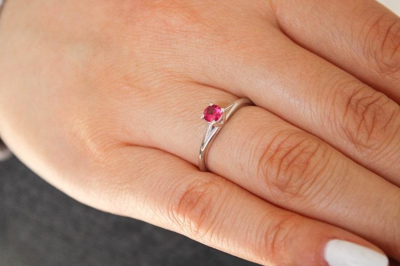 Rose Gold Vintage Floral Engagement Ring 925 Silver Promise Ring Made in USA