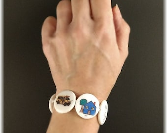 Portable visual schedule. Photo bracelet that is a personalized and wearable picture schedule, perfect for special needs.