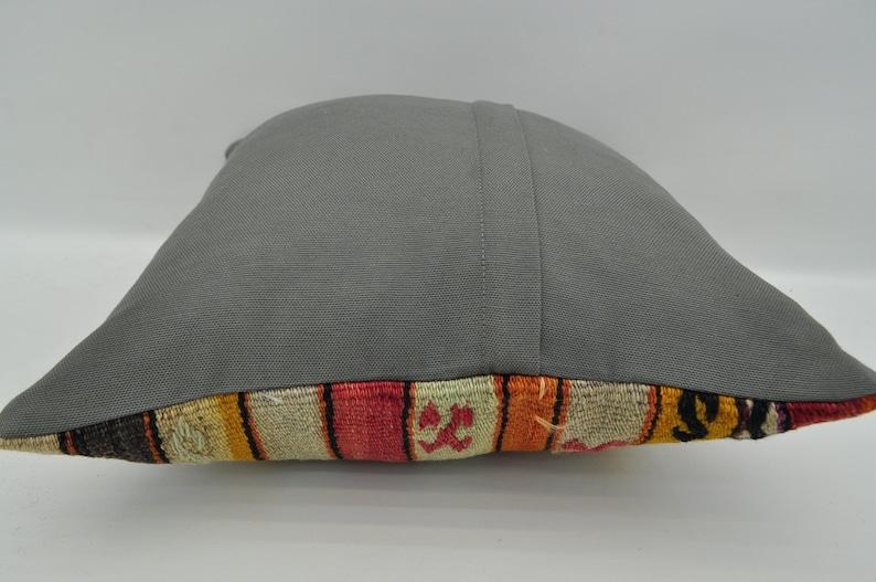 turkish pillow mix striped kilim pillow16x16anatolian kilim pillow vintage kilim pillow bohemian kilim pillow sofa kilim pilow  3650