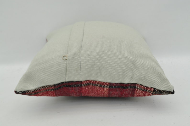 kilim pillow turkish kilim pillow red striped kilim pillow 12x12 bohemian kilim pillow small pillow tribal kilim cushion case No 101