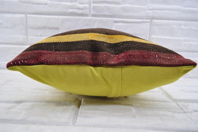 18x18  Turkish kilim pillow Decorative kilim pillow  Bohemian pillow Sofa pillow Patterned Kilim Pillow bedroom pirlow  No 1721