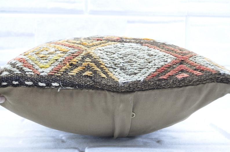 patterned kilim pillow 16x16 turkish kilim pillow decorative kilim pillow 16x16 anatolian kilim pillow home decor kilim pillow  1466