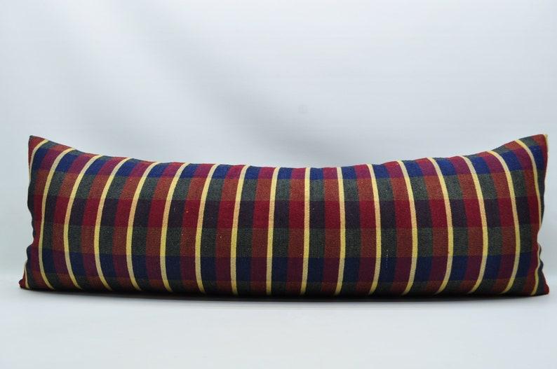turkish kilim pillow kilim pillow 16x48  lumbar pillow sofa pillow ethnic pillow  king size pillow striped kilim pillow boho pillow No 506