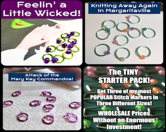 STARTER PACKS Classic Round Stitch Marker Wholesale Sets! 45 - 75 Sets of Markers