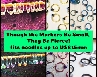 All the SMALL Stitch Markers! US8/5mm
