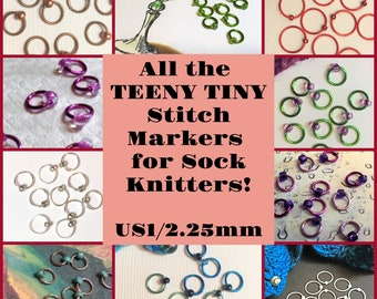 All the TEENY TINY Stitch Markers for Sock Knitters!