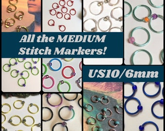 All the MEDIUM Stitch Markers! US10/6mm
