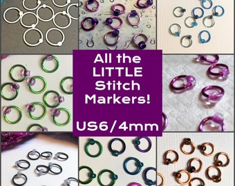 All the LITTLE Stitch Markers! US6/4mm