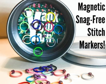 For Yarn is the Magnet, and My Needles are Steel -- Magnetic Snag-Free Stitch Markers in a SuperSize Set!