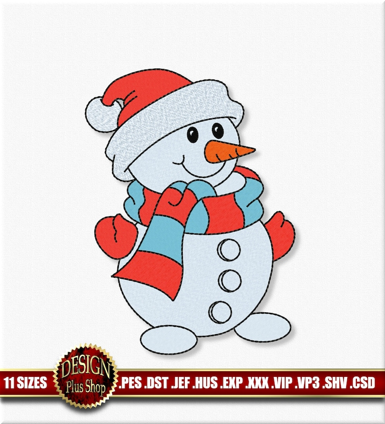 20 Christmas Xmas snowman Collection Embroidery Designs patterns PES JEF HUS