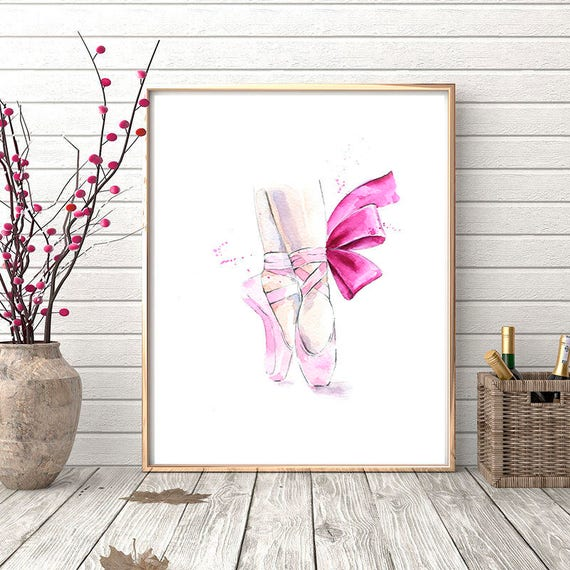 Ballerina shoes Printable poster | Etsy