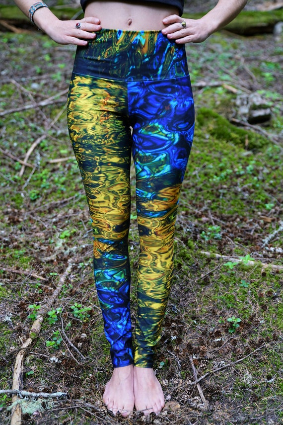 Water Yoga Leggings Water Tights Nature Tights Nature Etsy