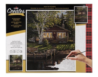 Plaid Creates Paint By Number Kit (16 by 20-inch), 60164 Simpler Times