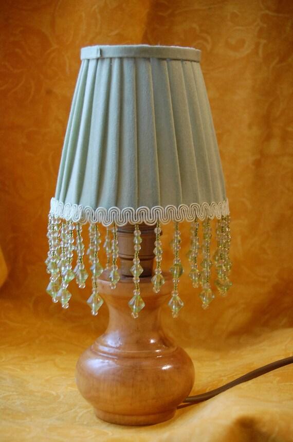 Grüne Perlen plissierten grüne Lampenschirme Zapfen Zapfen | Etsy