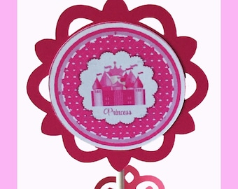 Princess Cupcake Topper and Wrapper