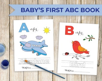 Abc Coloring Pages Etsy