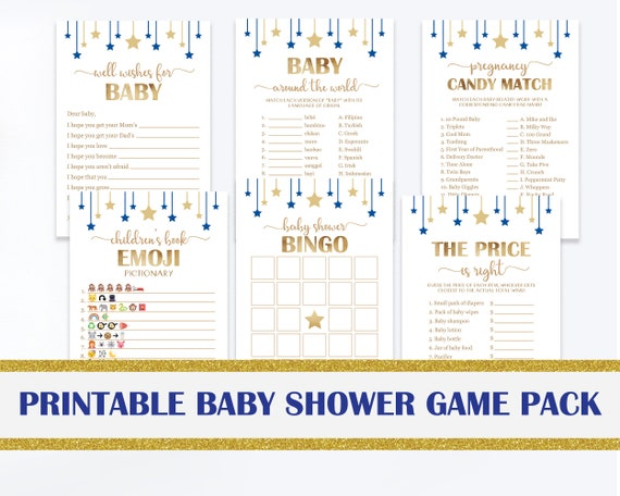 Baby Shower Games Printable Package Baby Shower Game Bundle Etsy