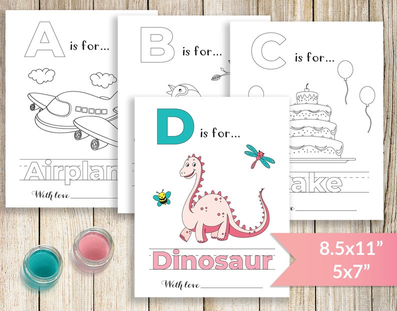 photograph relating to Printable Abc Book identified as Printable ABC Coloring E book, Boy or girl Shower Alphabet E-book, Little one Shower Recreation Coloring Webpages, Babys 1st ABC Ebook for Boy or girl Women of all ages