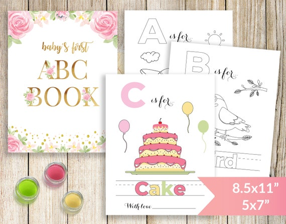 photograph relating to Abc Book Printable titled Babys Very first ABC Reserve, Babys To start with Alphabet E book, Youngster Shower Coloring E book, Printable Coloring Internet pages, Drawing Boy or girl Shower Sport