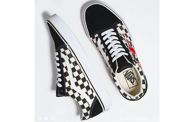 92d83858b85d Custom embroidered Vans custom sneakers floral sneakers